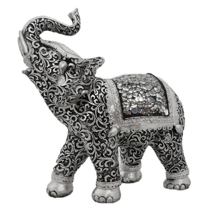 Αγαλματάκι Ελέφαντα μεταλλικής όψης 610A