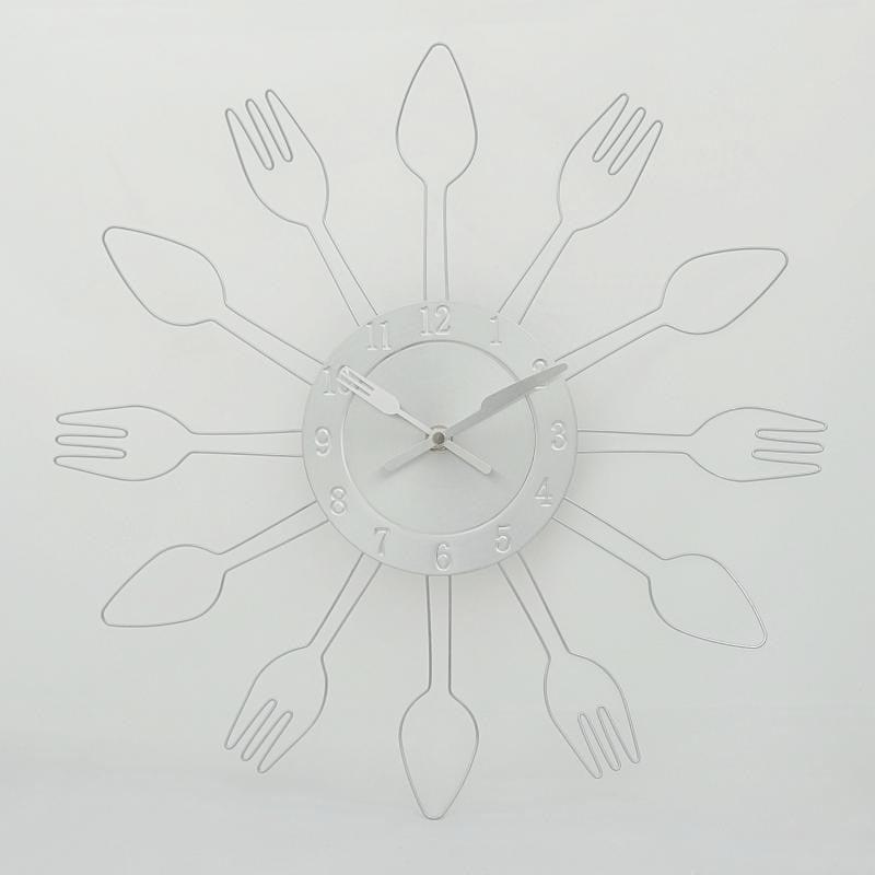 Ρολόι τοίχου κουζίνας μεταλλικό περίγραμμα - 1