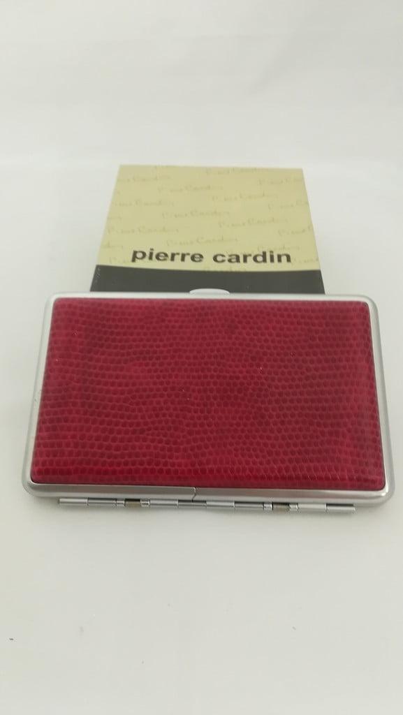 Ταμπακιέρα μπορντό κροκό Pierre Cardin 211 70 Pierre Cardin - 1