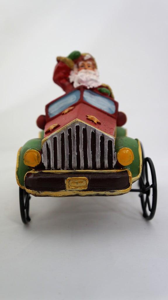 Χριστουγεννιάτικος κουμπαράς αυτοκίνητο Άγιος Βασίλης - 1
