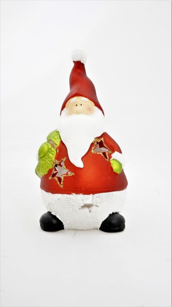 Χριστουγεννιάτικο διακοσμητικό, Άγιος Βασίλης με στεφάνι - 1