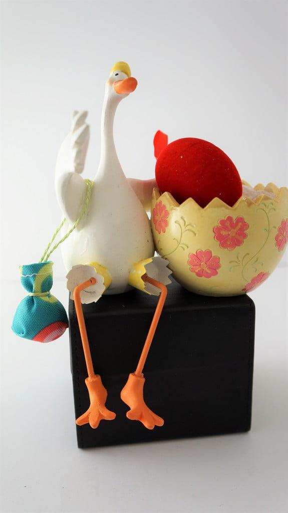 Πασχαλινό διακοσμητικό, χήνα με αυγό - 1