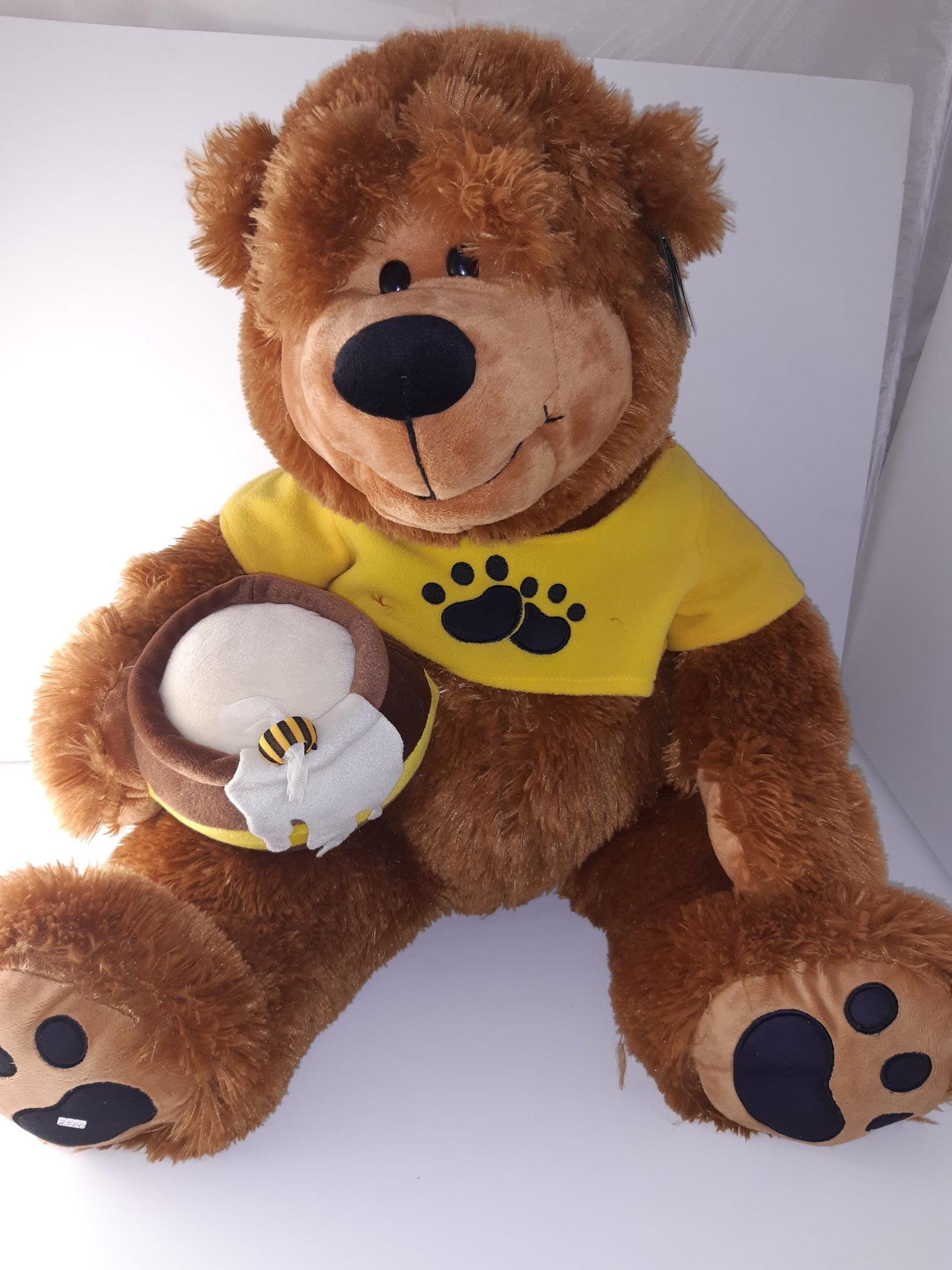 Λούτρινος μεγάλος μελένιος αρκούδος, 70εκ. - 1