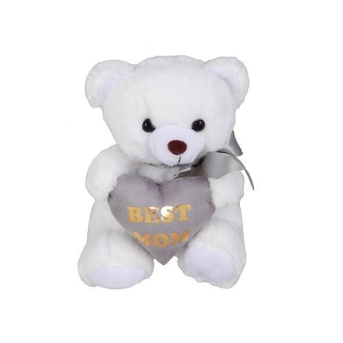 Λευκό αρκουδάκι best mom